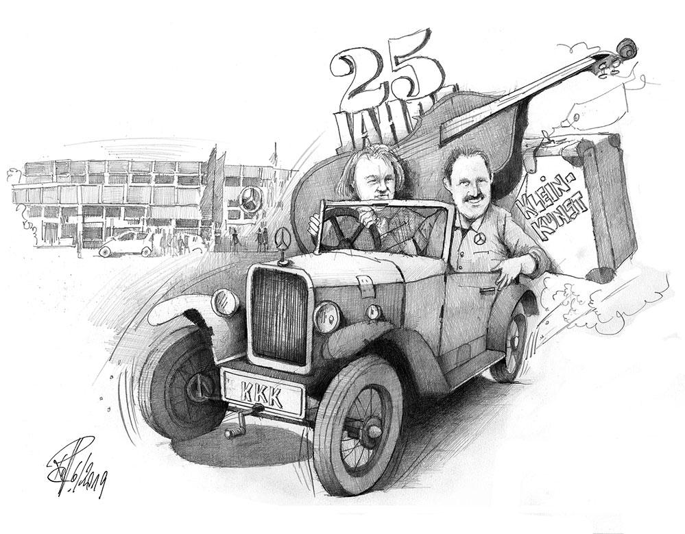 Weiterhin: Gute Fahrt Zeichnung: R. Hellenschmidt