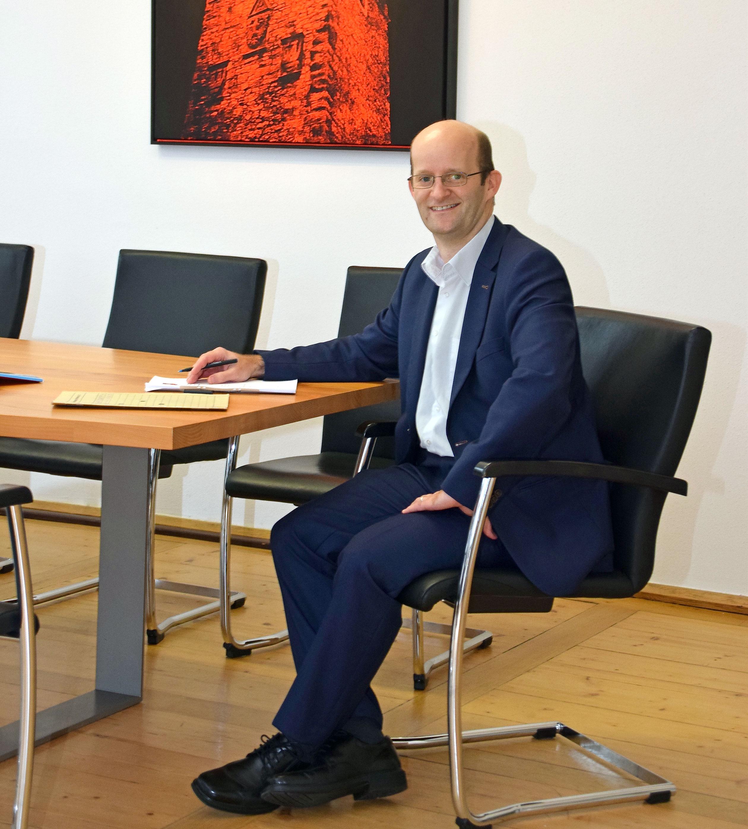 Dr. Markus Naser hat als neuer Oberbürgermeister in Coronazeiten keinen leichten Job angetreten. Foto: am