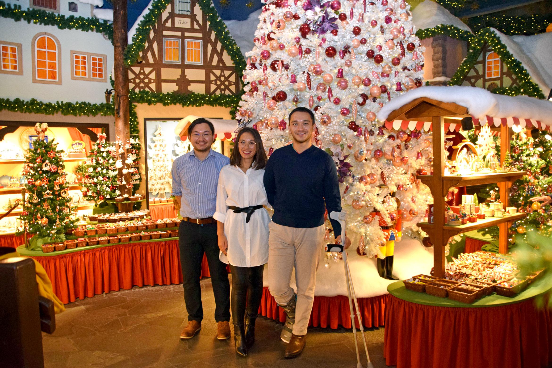 Kenta, Aska und Takuma Wohlfahrt (von links) bereiten sich auf die zukünftige Leitung des Familienunternehmens vor. Foto: am