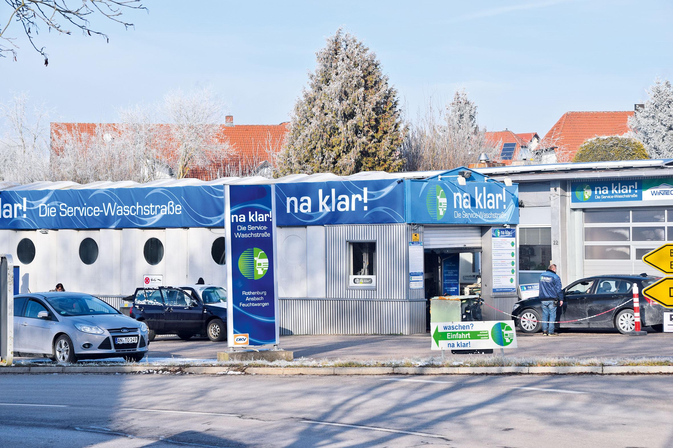 """Mit einem eigenen Design kann sich die """"na klar!""""-Autowaschstraße sehen lassen. Foto: ul"""