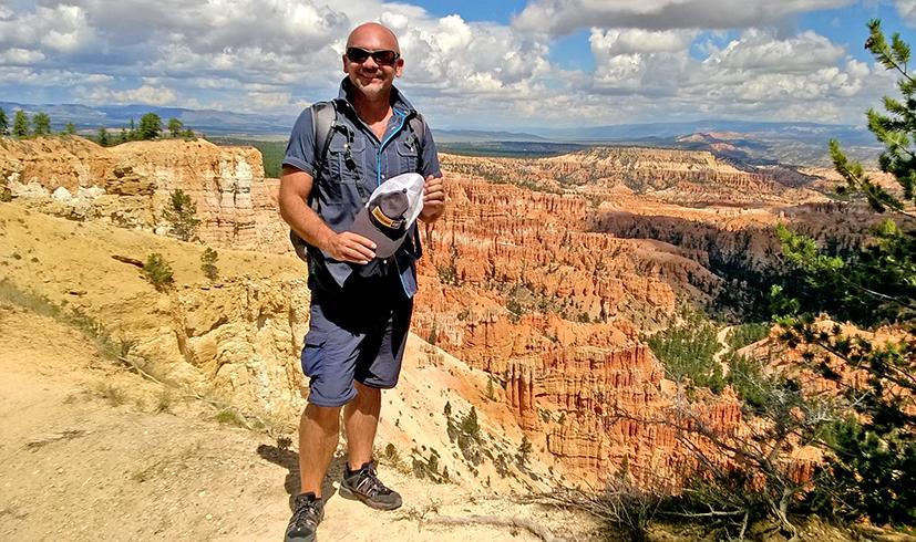 Frank Flörchinger im Bryce Canyon. Die USA hat er viele Male bereist. Fotos: privat