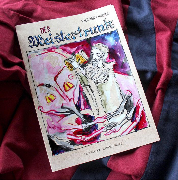 Auf acht Seiten erzählt der Comic die Geschichte Rothenburgs während der Belagerung im Dreißigjährigen Krieg. Foto: Privat