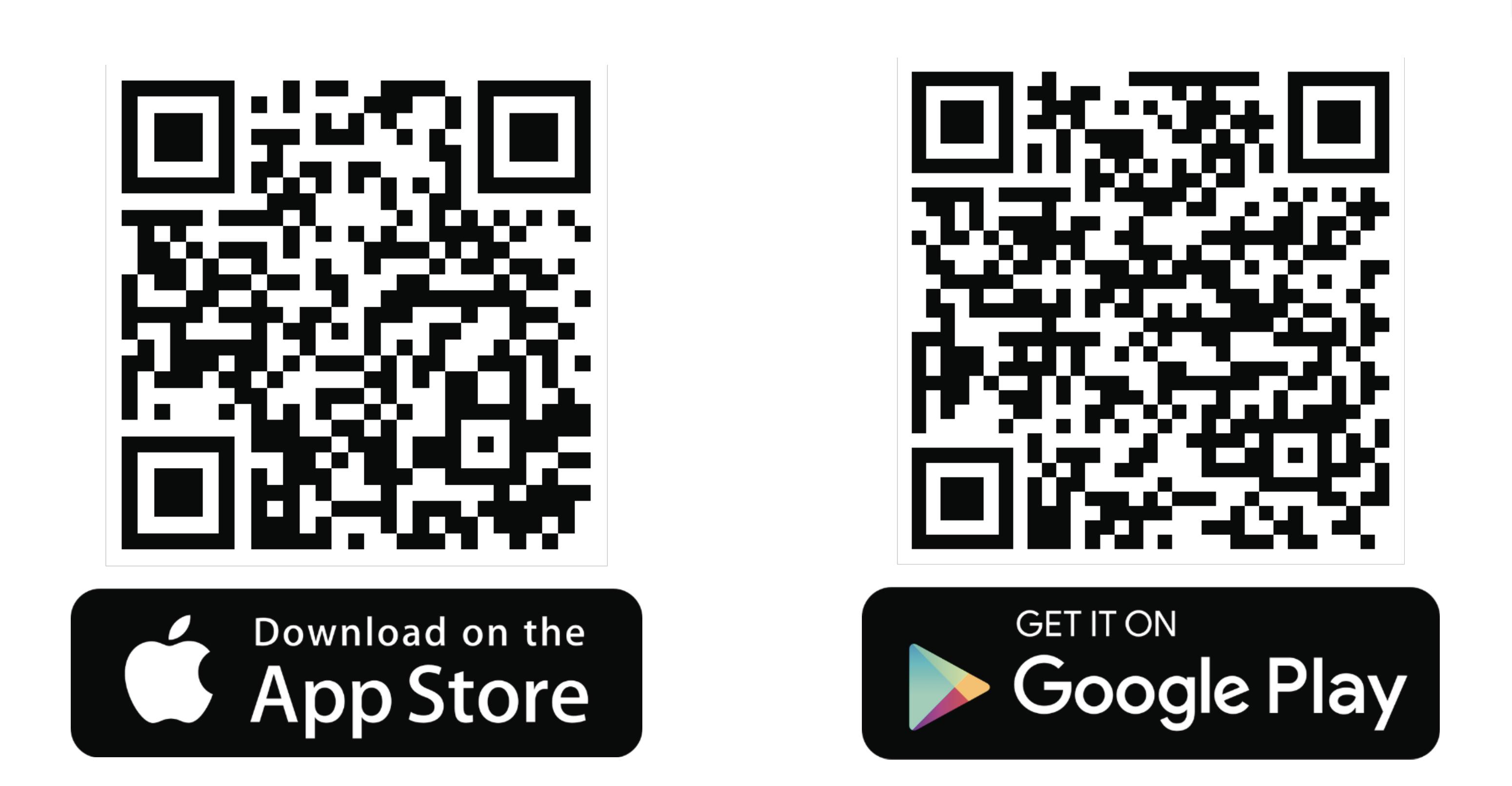 Über einen Scan dieser QR-Codes findet man direkt zur App. Fotos: privat