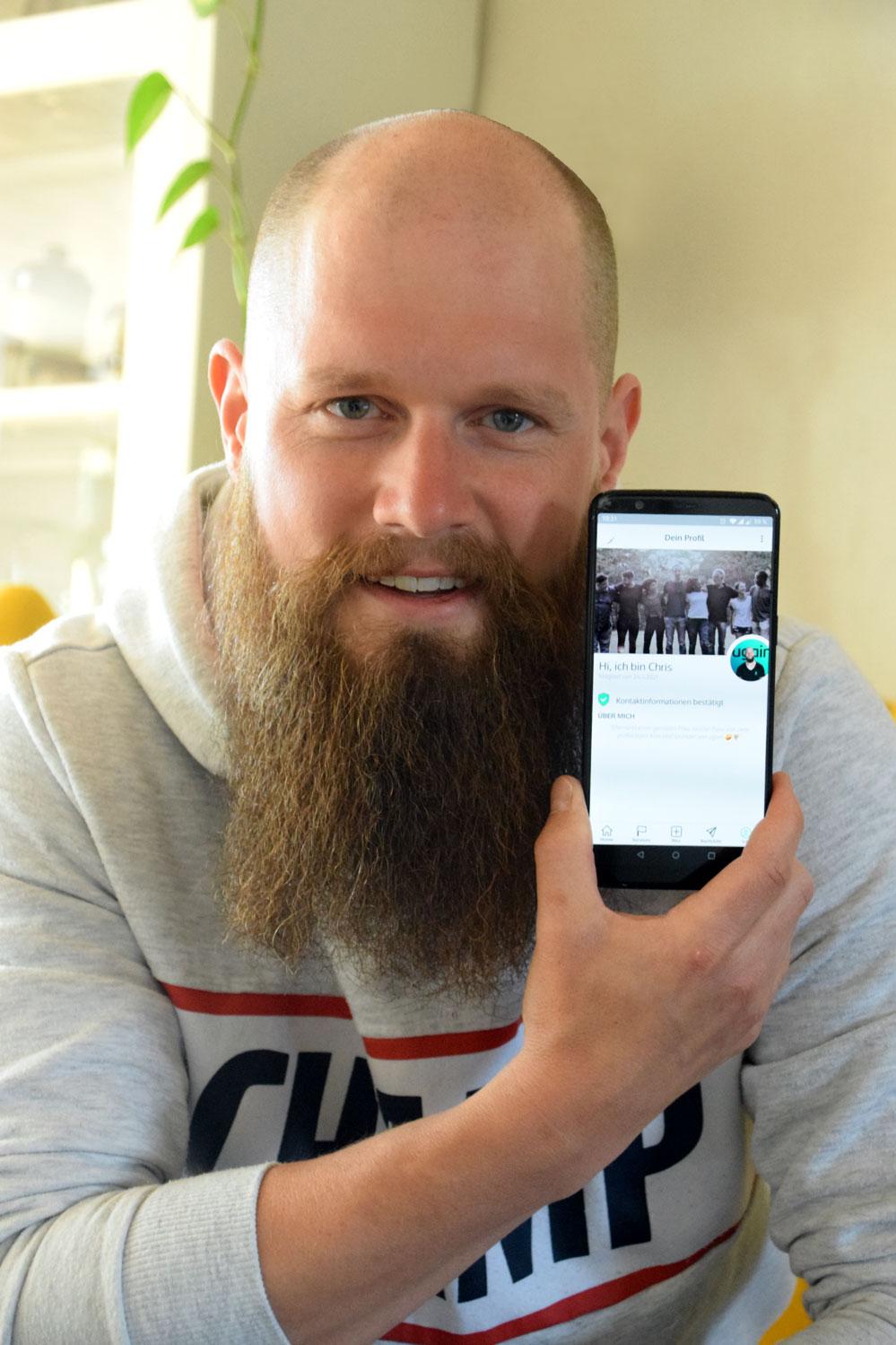 """Christian Martens ist der """"Vater"""" der """"ugain-App"""". Foto: ul"""