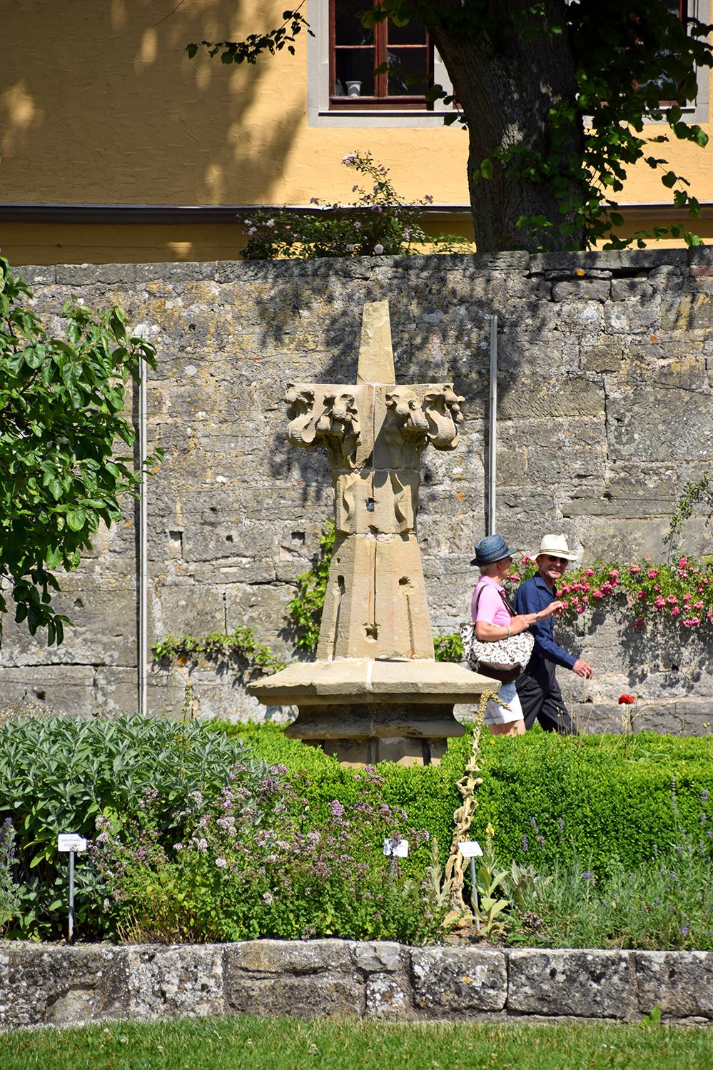 Klostergarten des RothenburgMuseums. Foto: am