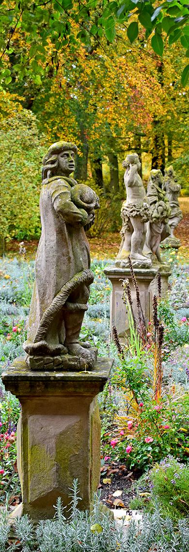 Statuen im Burggarten. Foto: am
