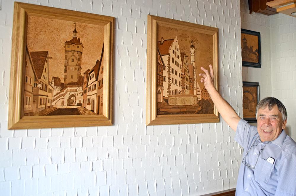 Neu in seiner Ausstellung sind zwei Ansichten der Tauberstadt, die in der Coronazeit entstanden sind. Foto: ul