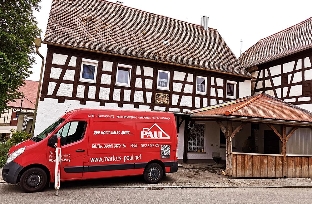 Ein Denkmal geschütztes Haus in Ermetzhofen ist eines der vielen Projekte von Markus Paul. Foto: privat